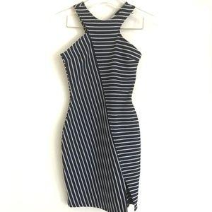 Zara Dresses - Zara Trafaluc Bodycon Striped Split Hem Dress